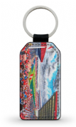 pittodrie  PU Leather Keyring Printed Both Sides